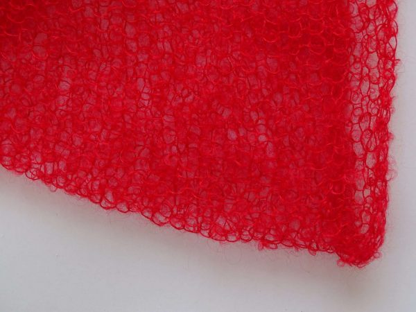 Mohair Wickeltuch Rot