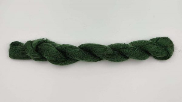 1 trådet kidmohair garn flaskegrøn