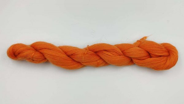 1 trådet kidmohair garn appelsin