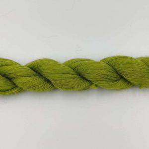 1 trådet kidmohair garn lime