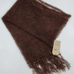 Schal,mørkbrun