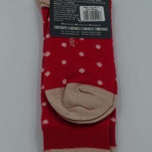 Metro socks stroemper roed beige bag
